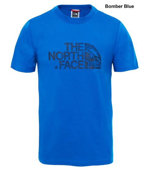 The North Face Mens Woodcut Dome Tee - Cotton T-Shirt